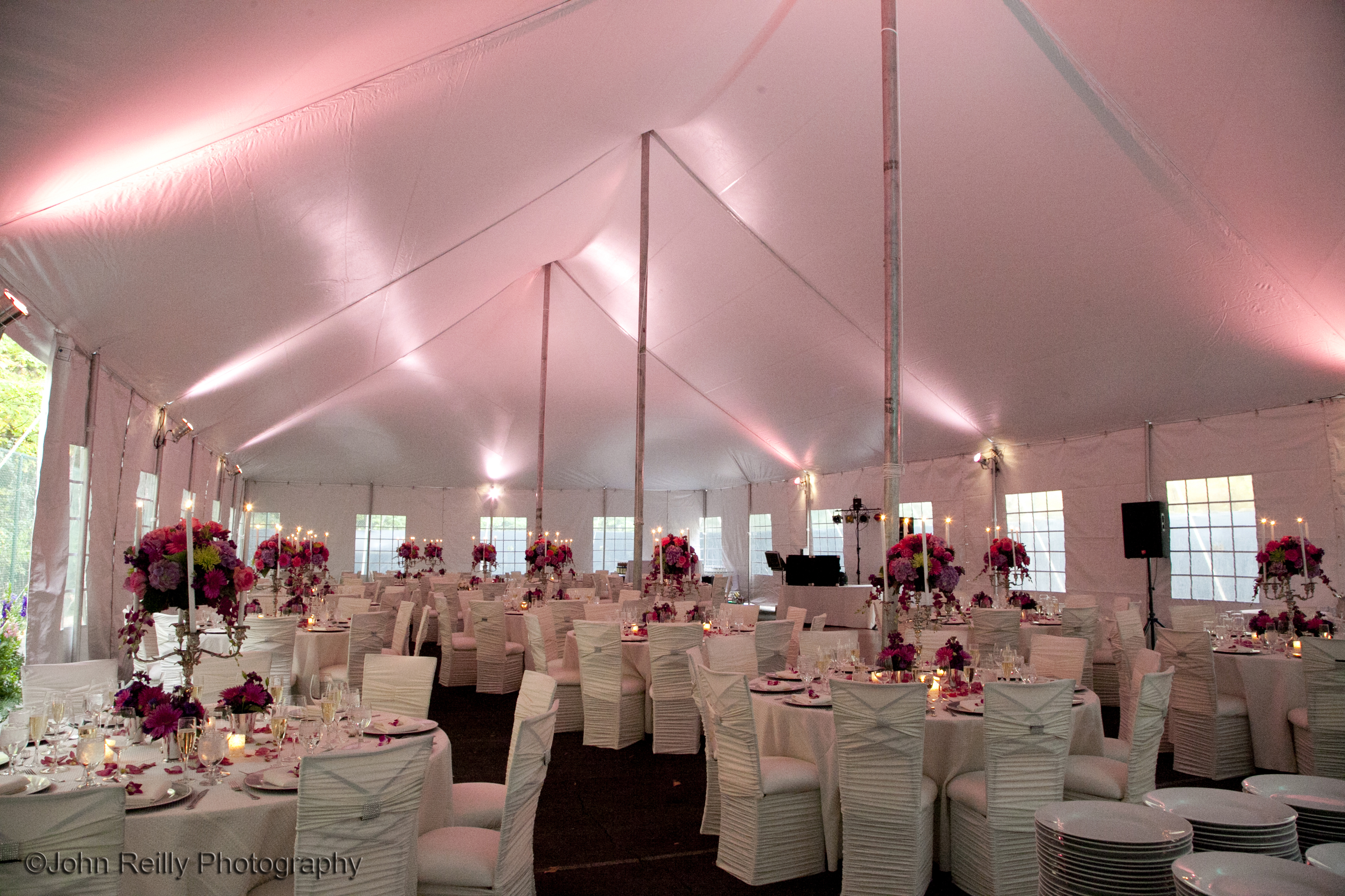 Private residence tent reception