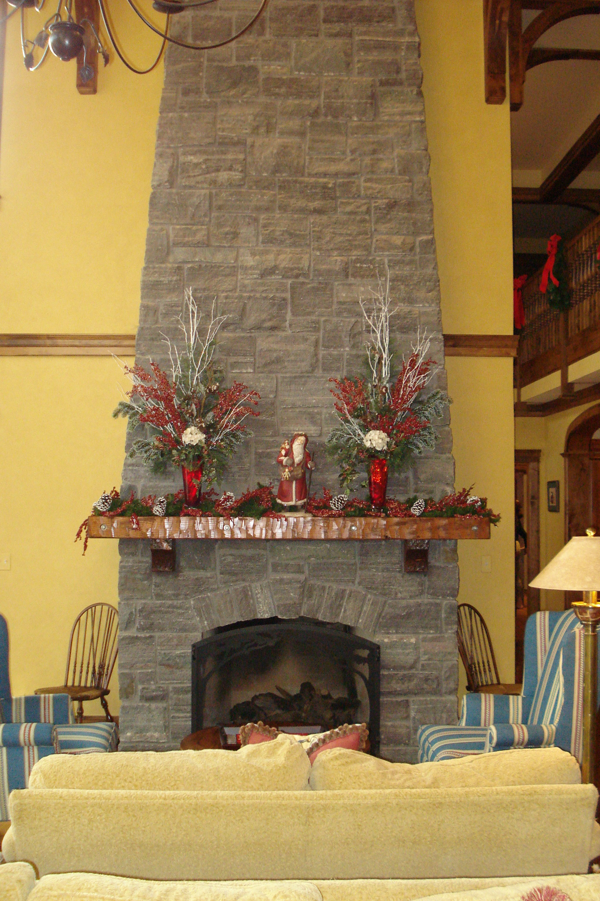 Custom Christmas mantle decor