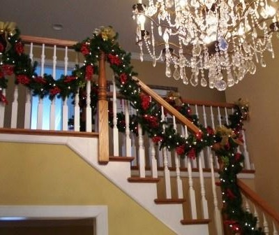 Custom Faux Christmas Staircase