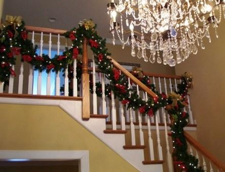 Custom faux staircase garland