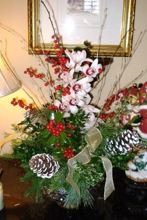 Festive entry table