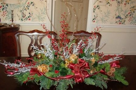 faux holiday centerpiece