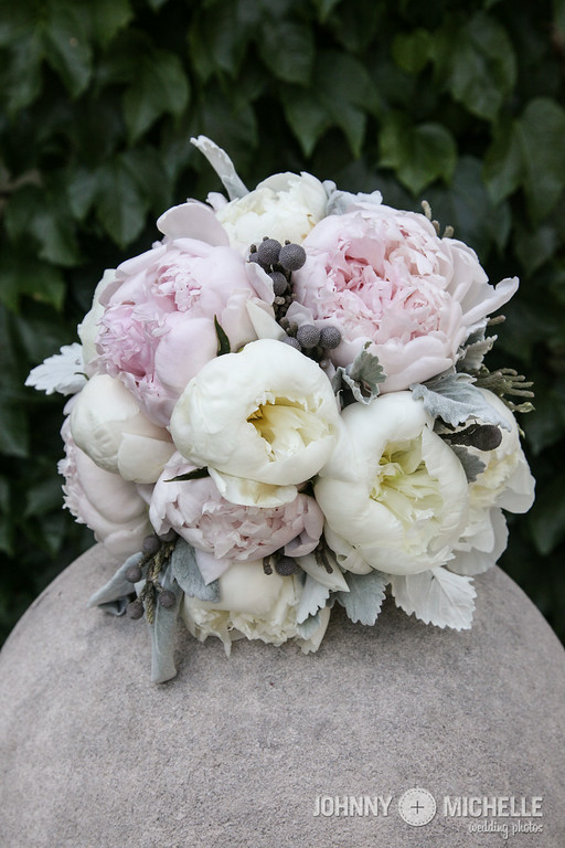 peonies with gray accents