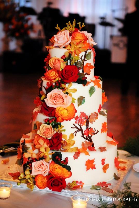 Fall Cascade Cake Design