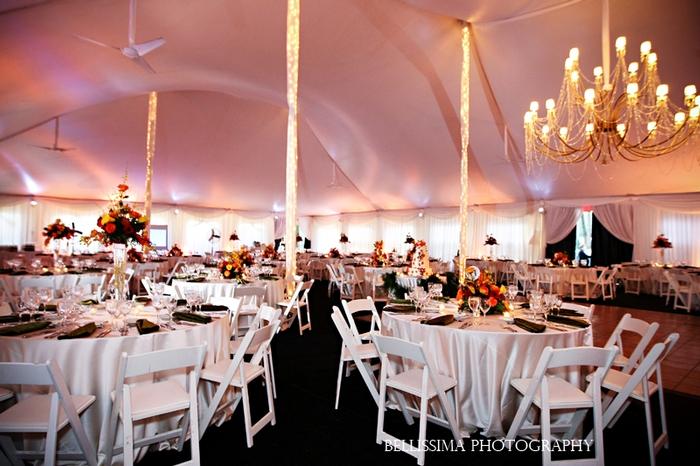 fall tent decor