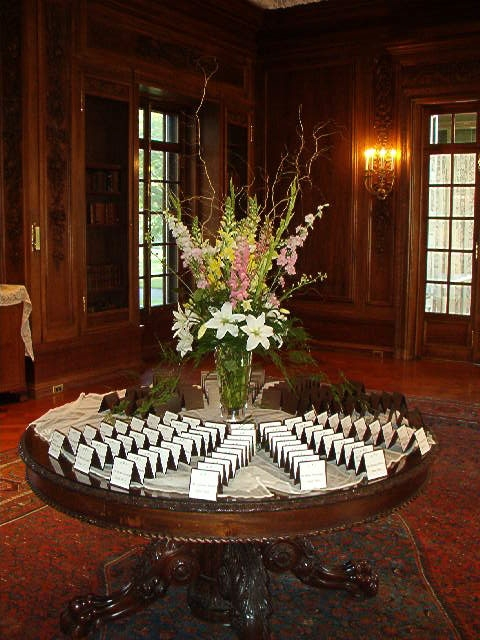 place card table at Armour House