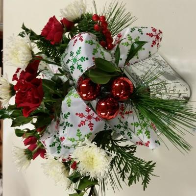 Festive present floral design