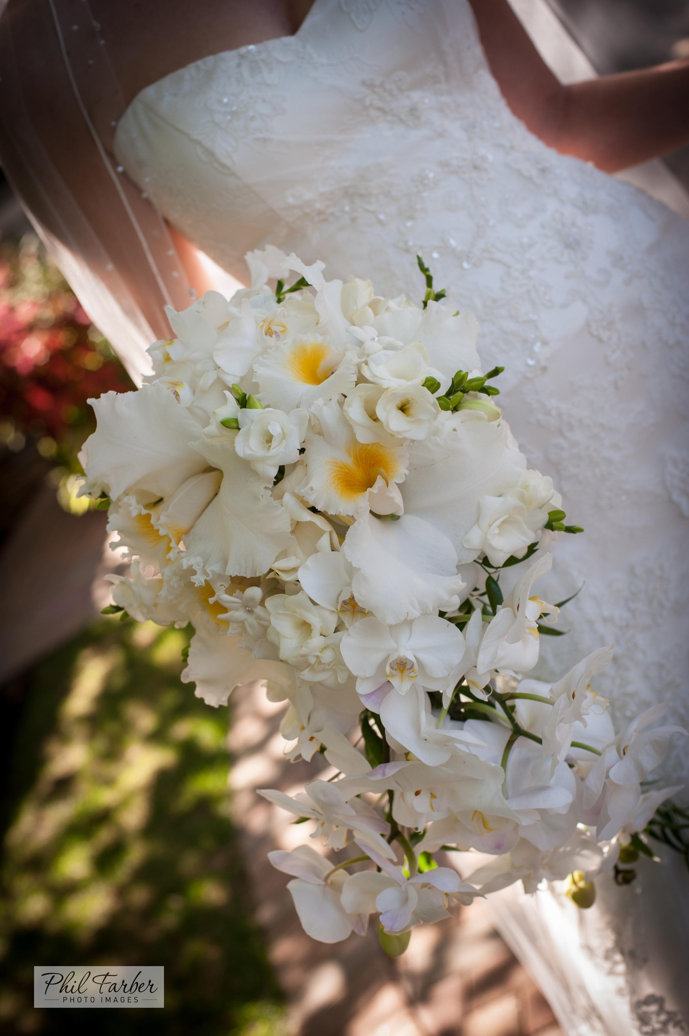 elegant cascade bouquet