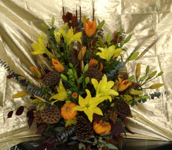 Custom Flower Arrangement with Lilies