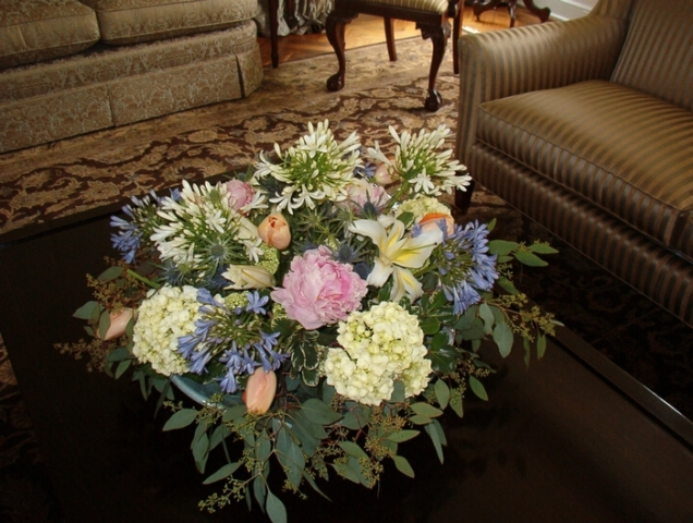 Living Room Flower Arrangement
