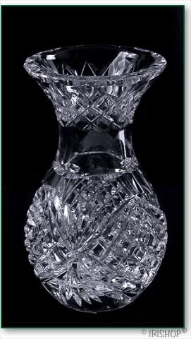 crystal vase short
