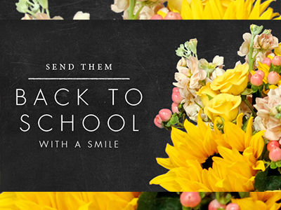 Back to school flowers, Lake Forest Florist, Lake Bluff Florist